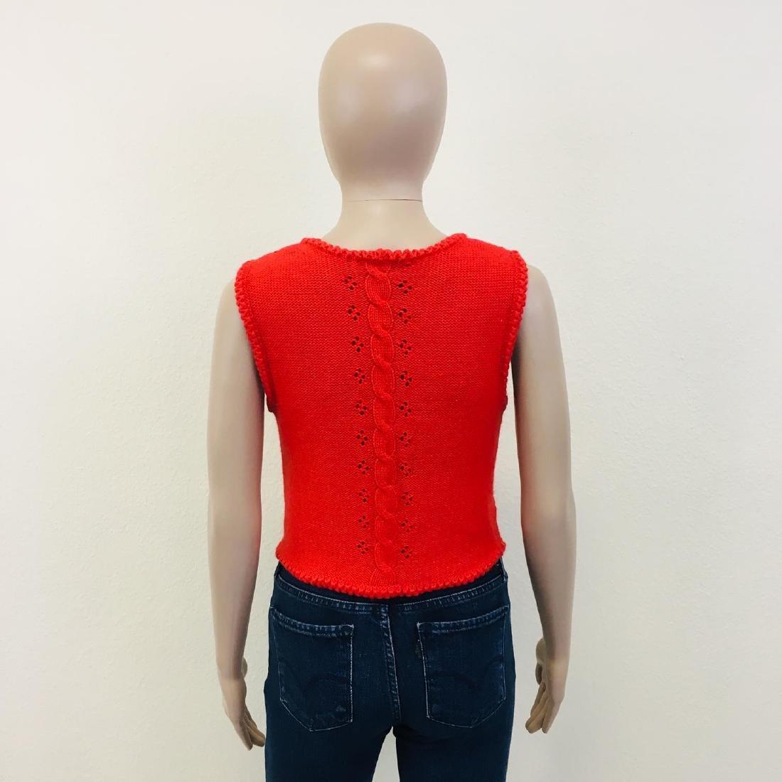 Women's Austrija Strick-Modelle Wool Blend Waistcoat - 7