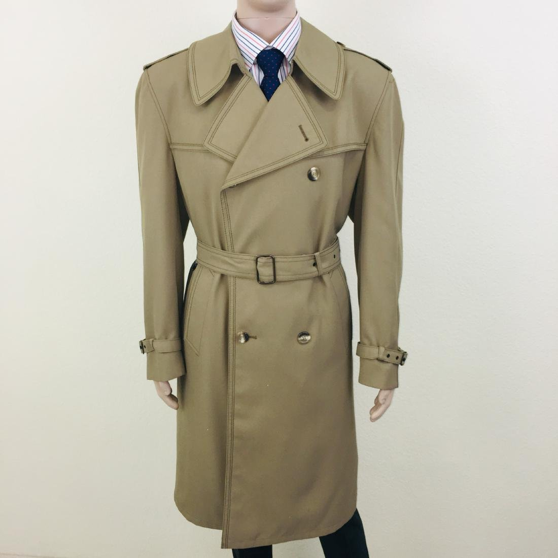 Vintage Men's Dress Boraj High Quality Trench Coat - 3