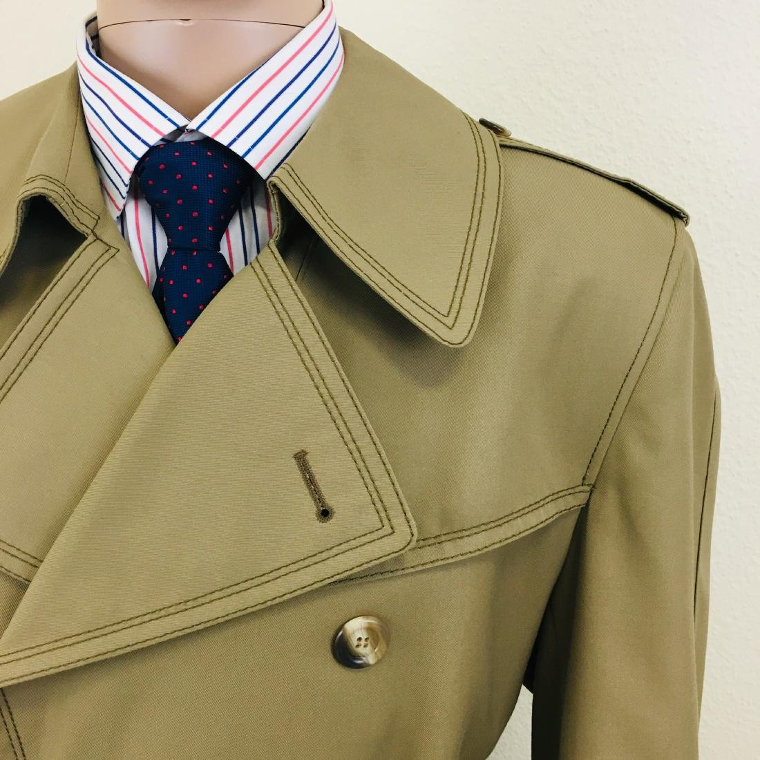 Vintage Men's Dress Boraj High Quality Trench Coat - 4