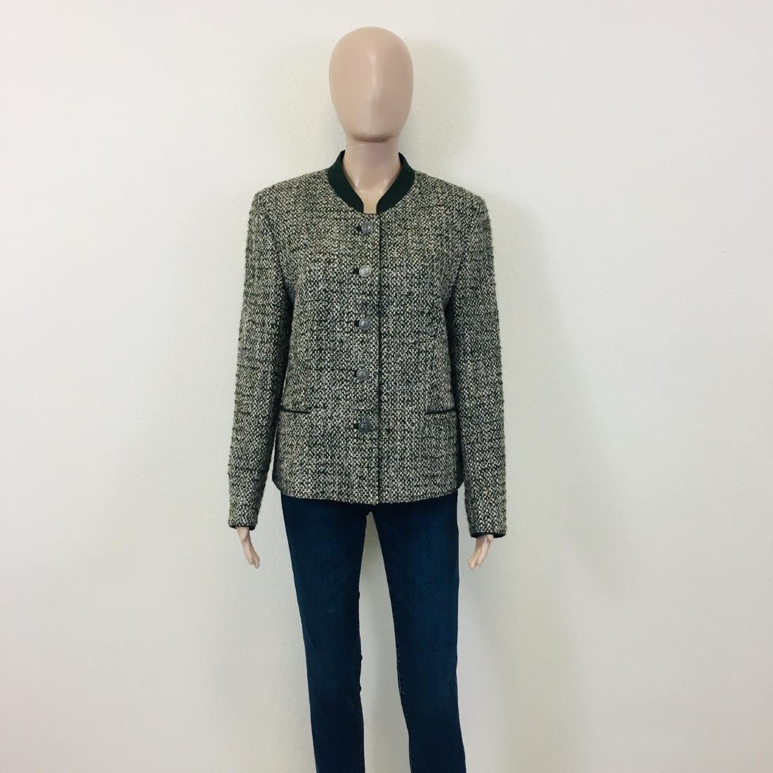 Women's Tyrolean Wool Blend Blazer Jacket - 2