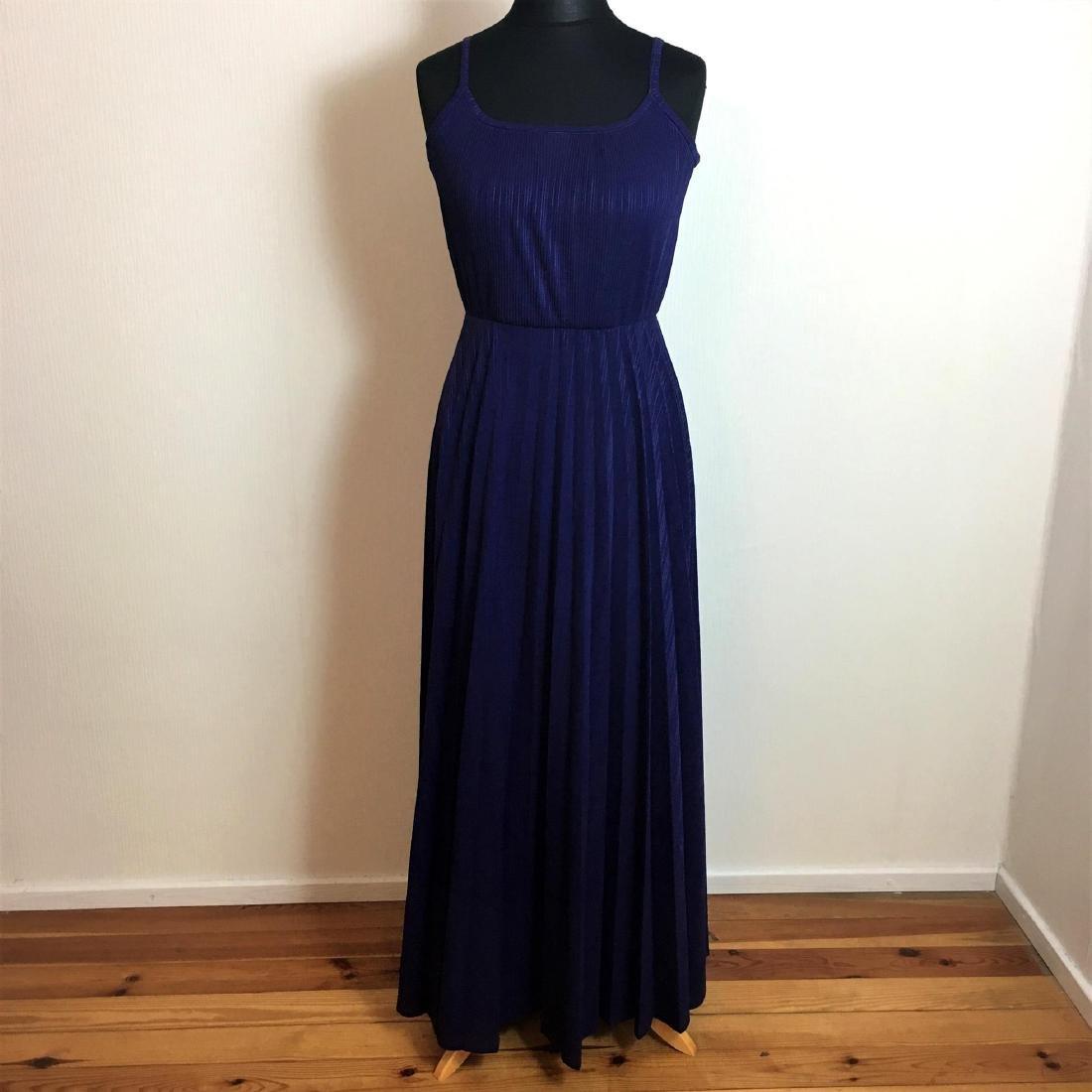 Vintage Women's Coctail Evening Maxi Dress