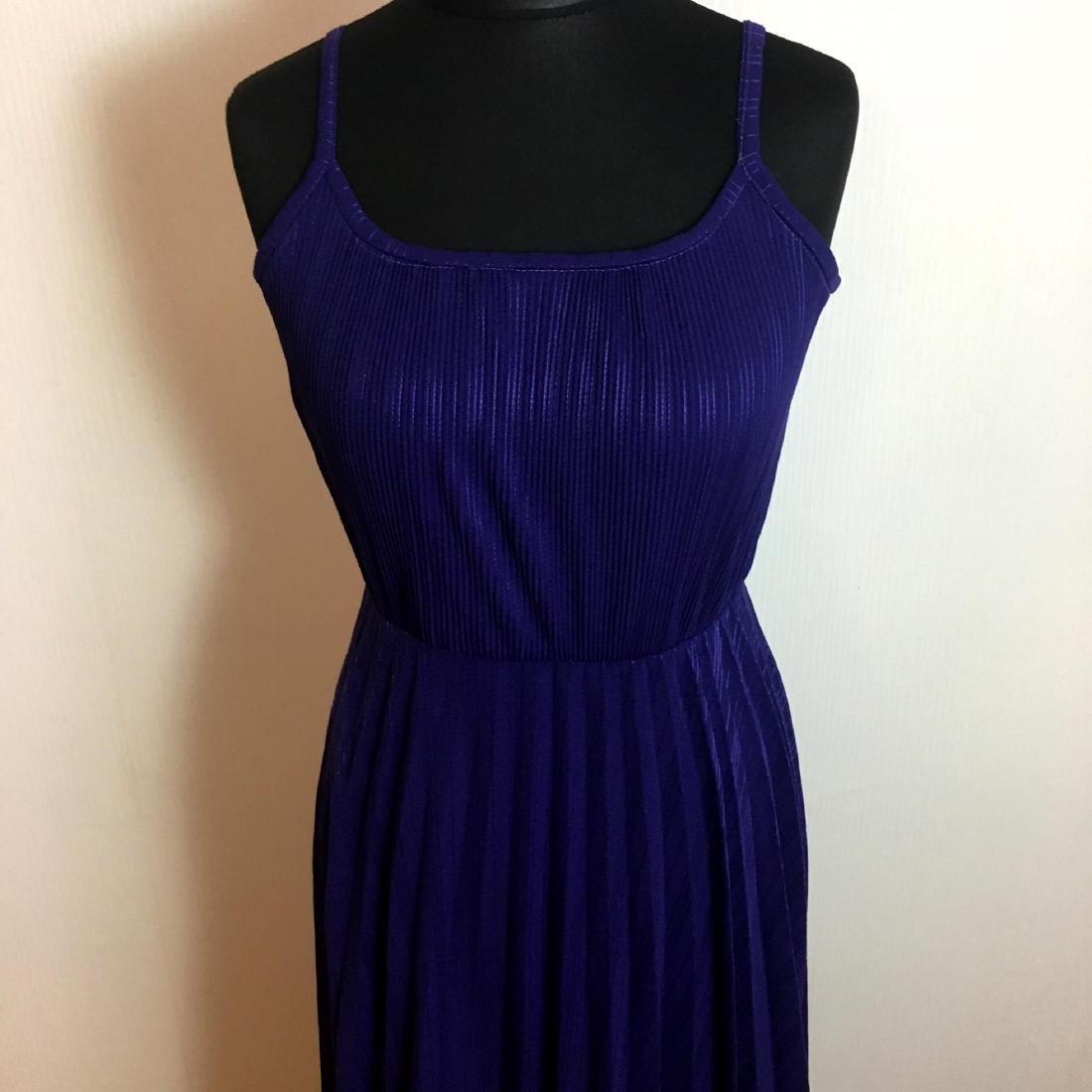 Vintage Women's Coctail Evening Maxi Dress - 2