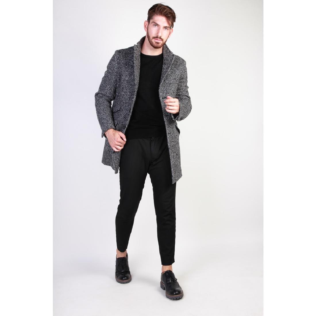 New Men's Italian Wool Blend Coat US 40 - 2