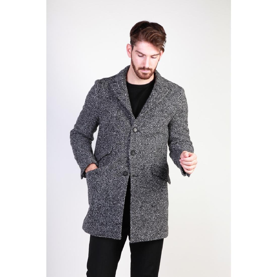 New Men's Italian Wool Blend Coat US 40 - 3