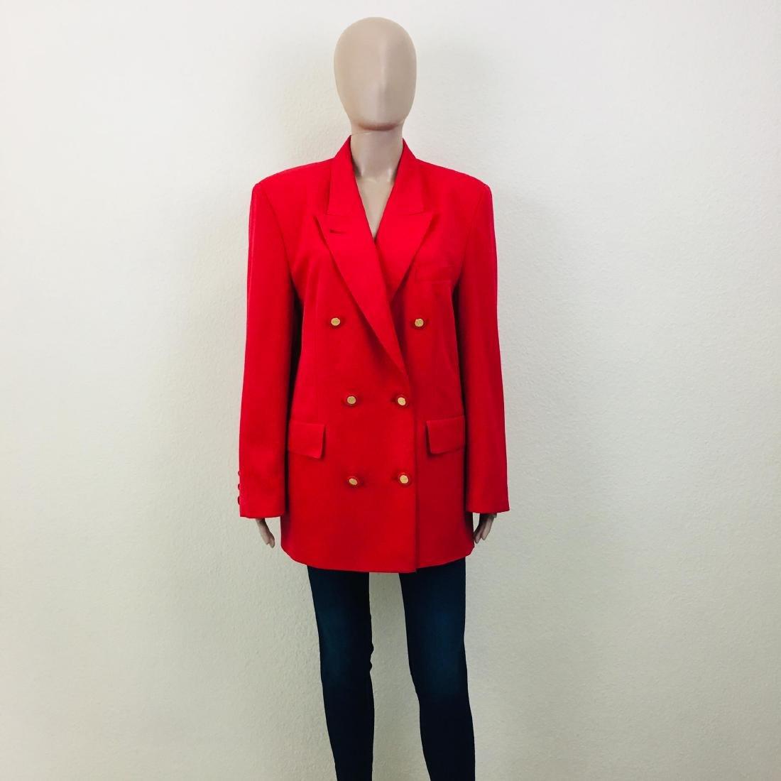 Vintage Women's RAVENS Designer Wool Blend Blazer - 2