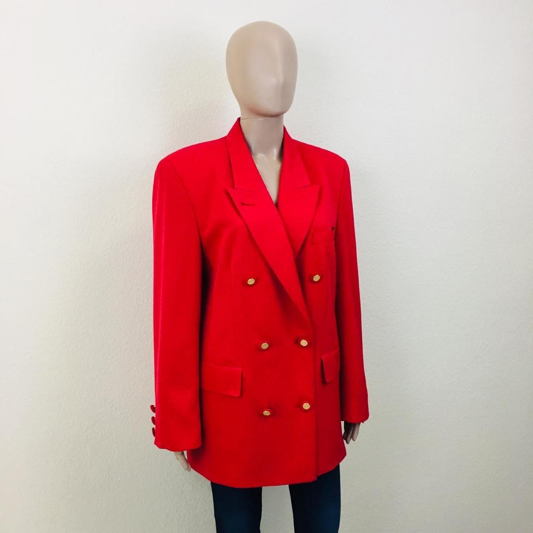 Vintage Women's RAVENS Designer Wool Blend Blazer - 3