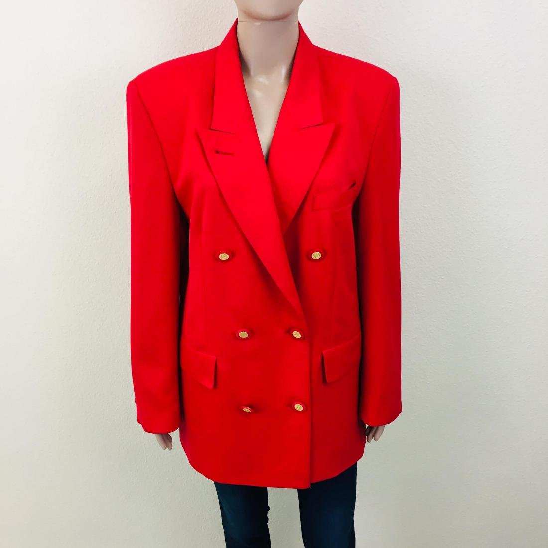 Vintage Women's RAVENS Designer Wool Blend Blazer - 4