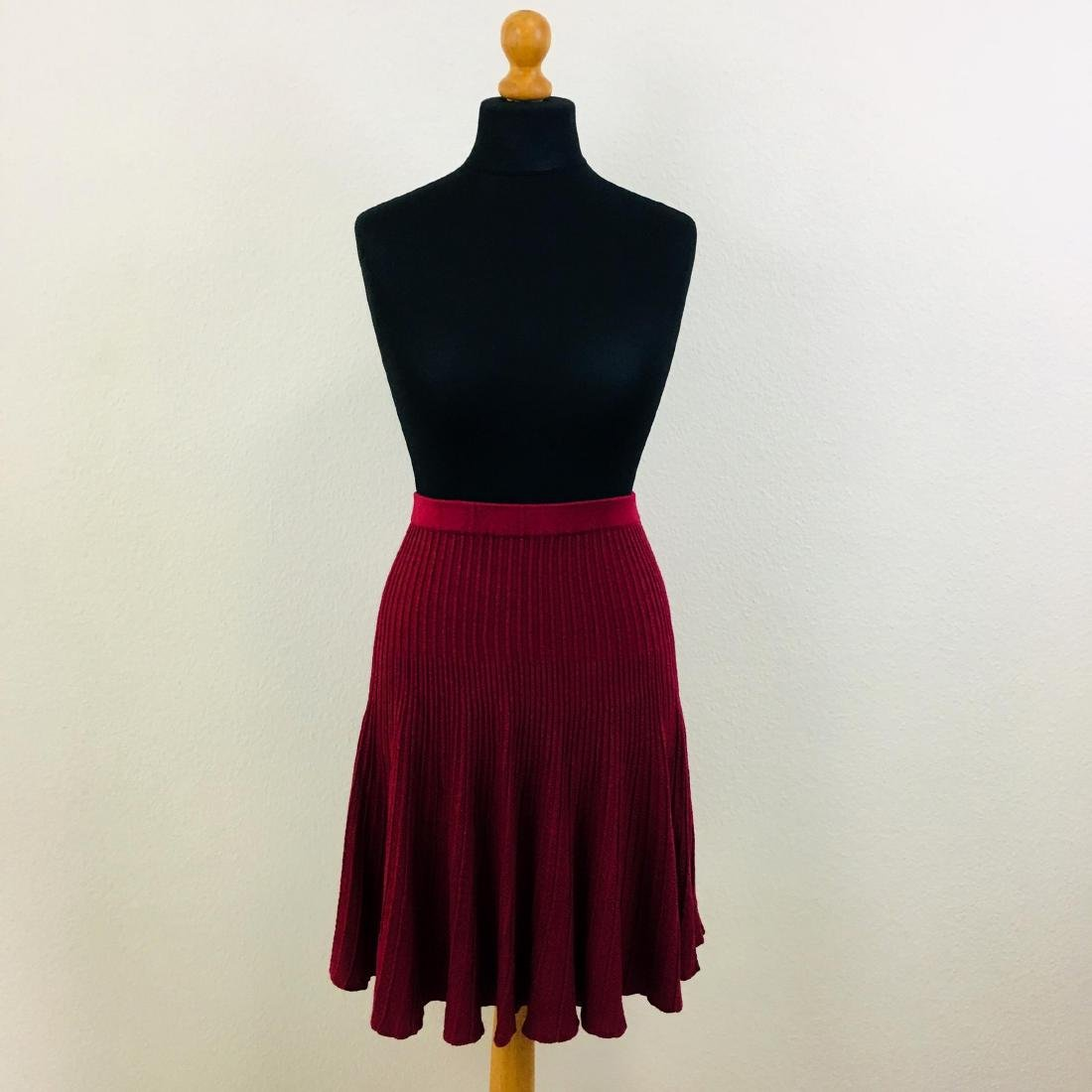 Vintage Women's Pleated Red Skirt