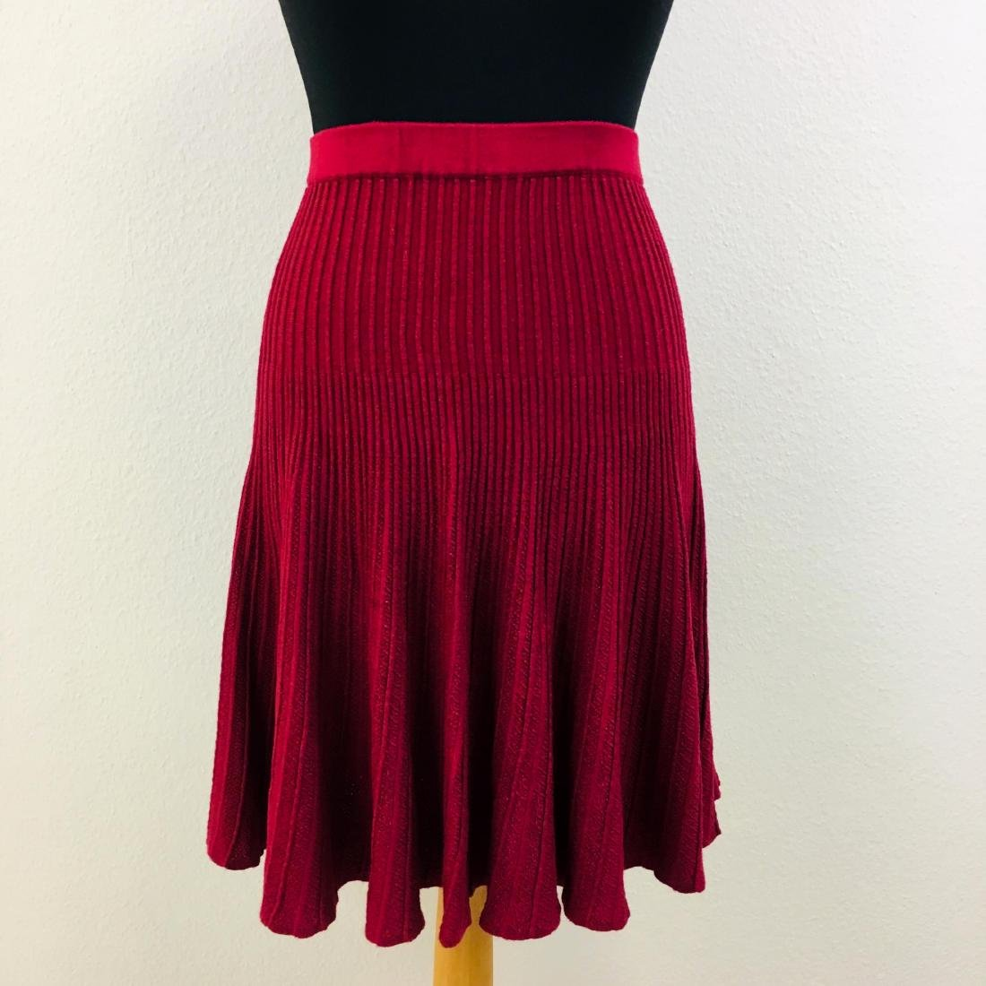 Vintage Women's Pleated Red Skirt - 2