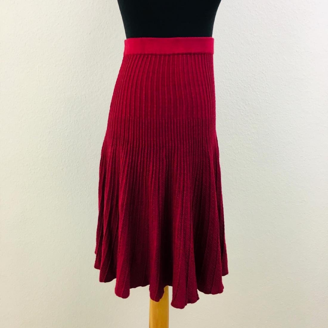 Vintage Women's Pleated Red Skirt - 3