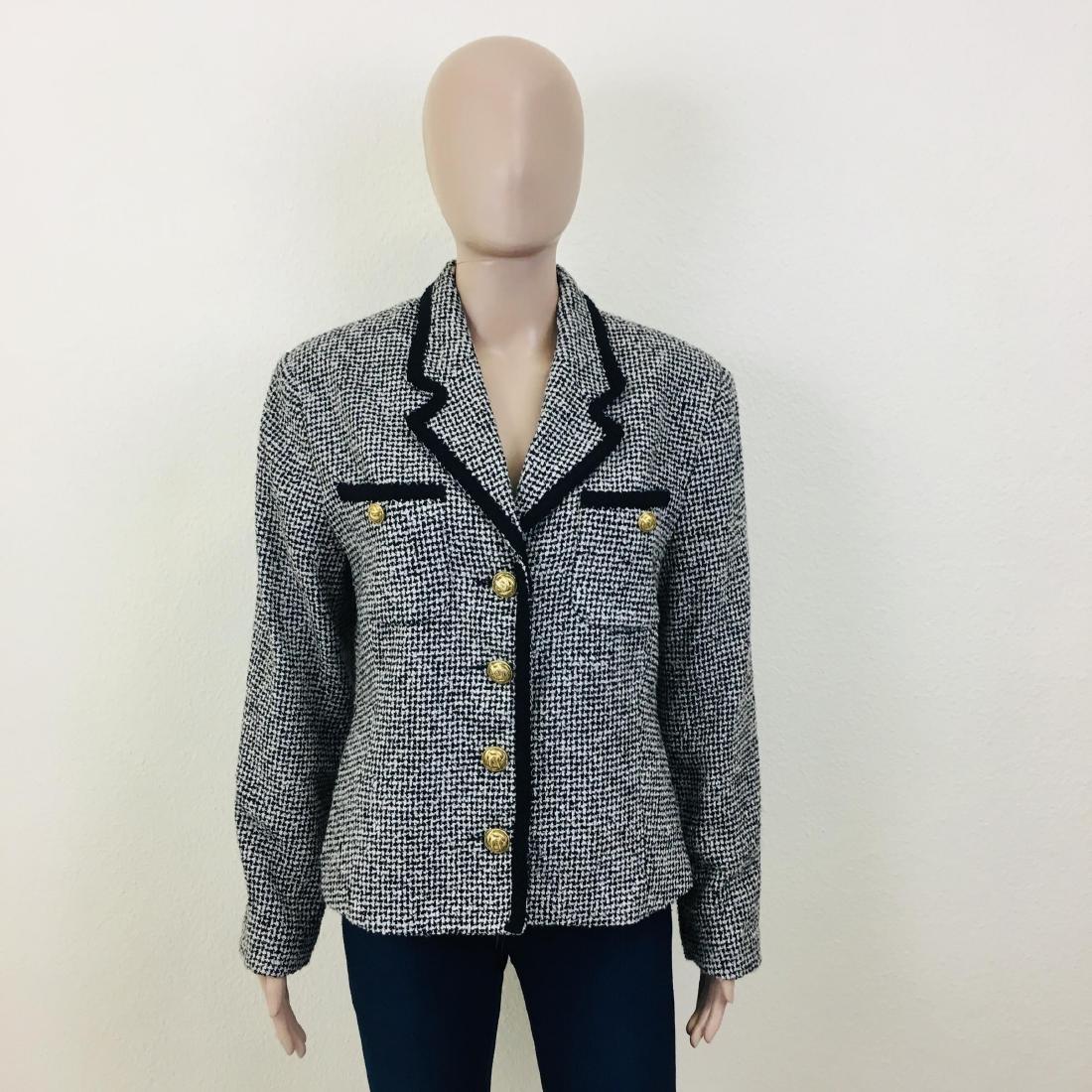 Vintage Women's Santarelli Designer Wool Blend Blazer