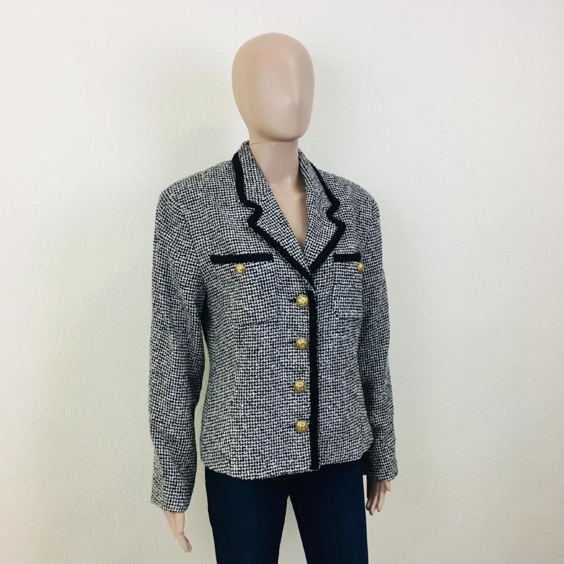 Vintage Women's Santarelli Designer Wool Blend Blazer - 3