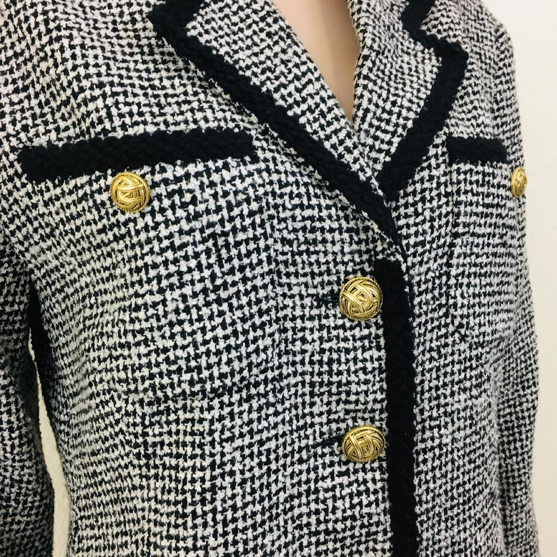 Vintage Women's Santarelli Designer Wool Blend Blazer - 4