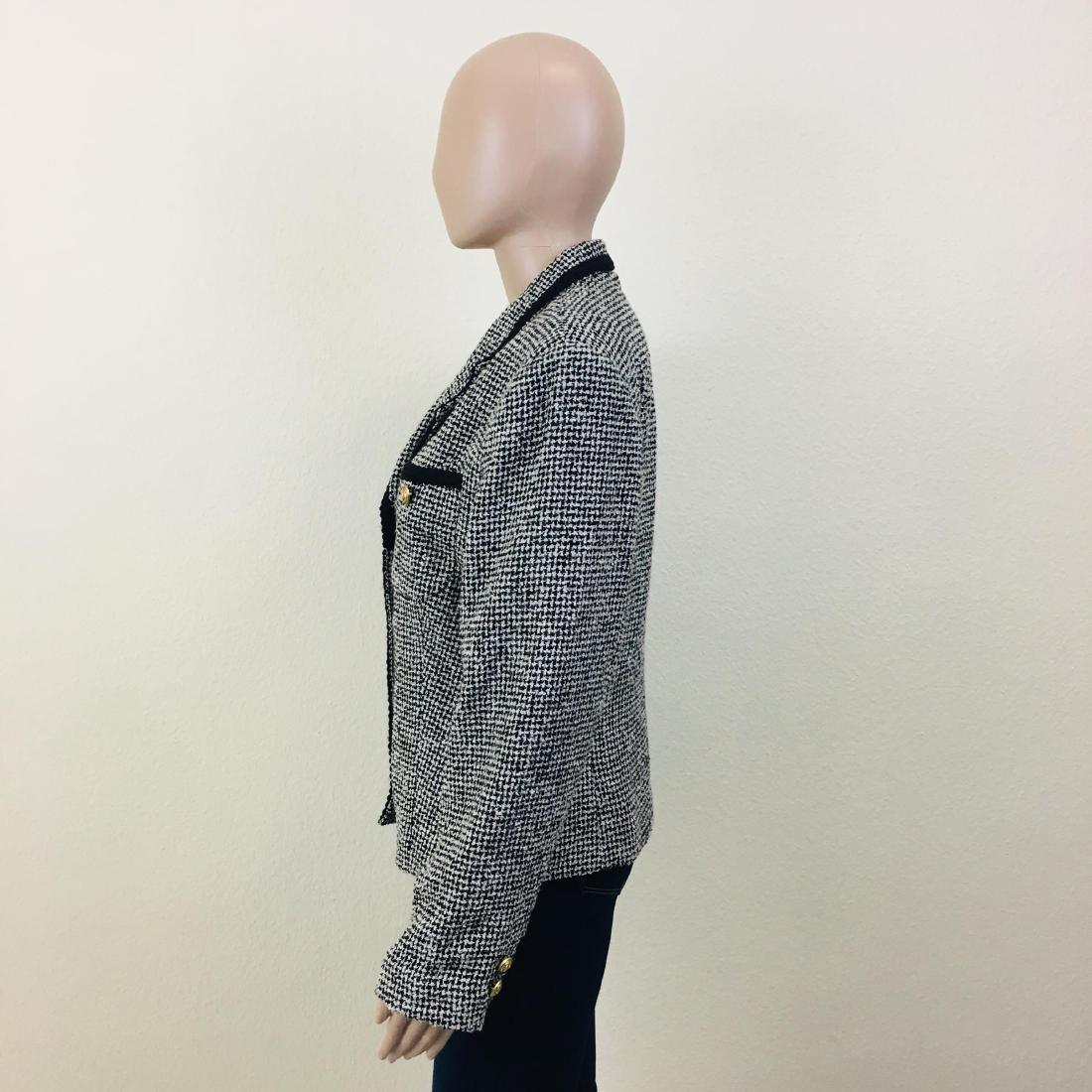 Vintage Women's Santarelli Designer Wool Blend Blazer - 5