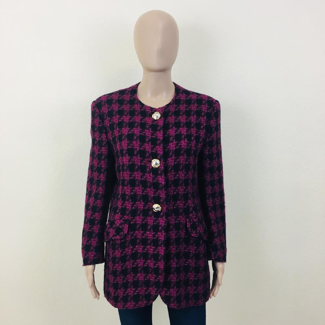Vintage Women's Uknown Italian Designer Wool Blend