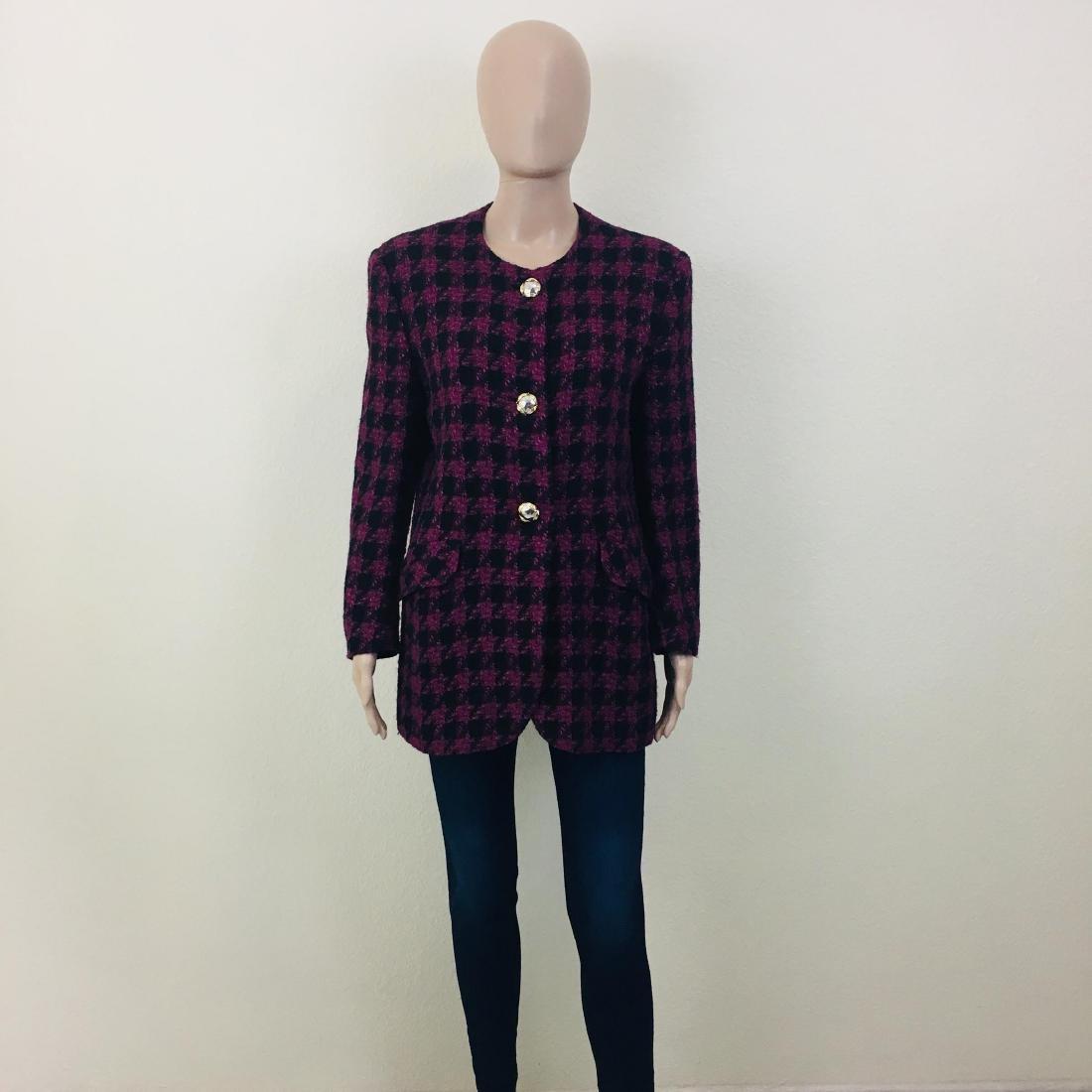 Vintage Women's Uknown Italian Designer Wool Blend - 2