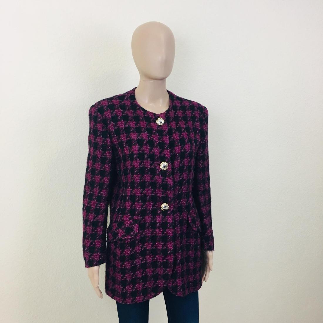 Vintage Women's Uknown Italian Designer Wool Blend - 3