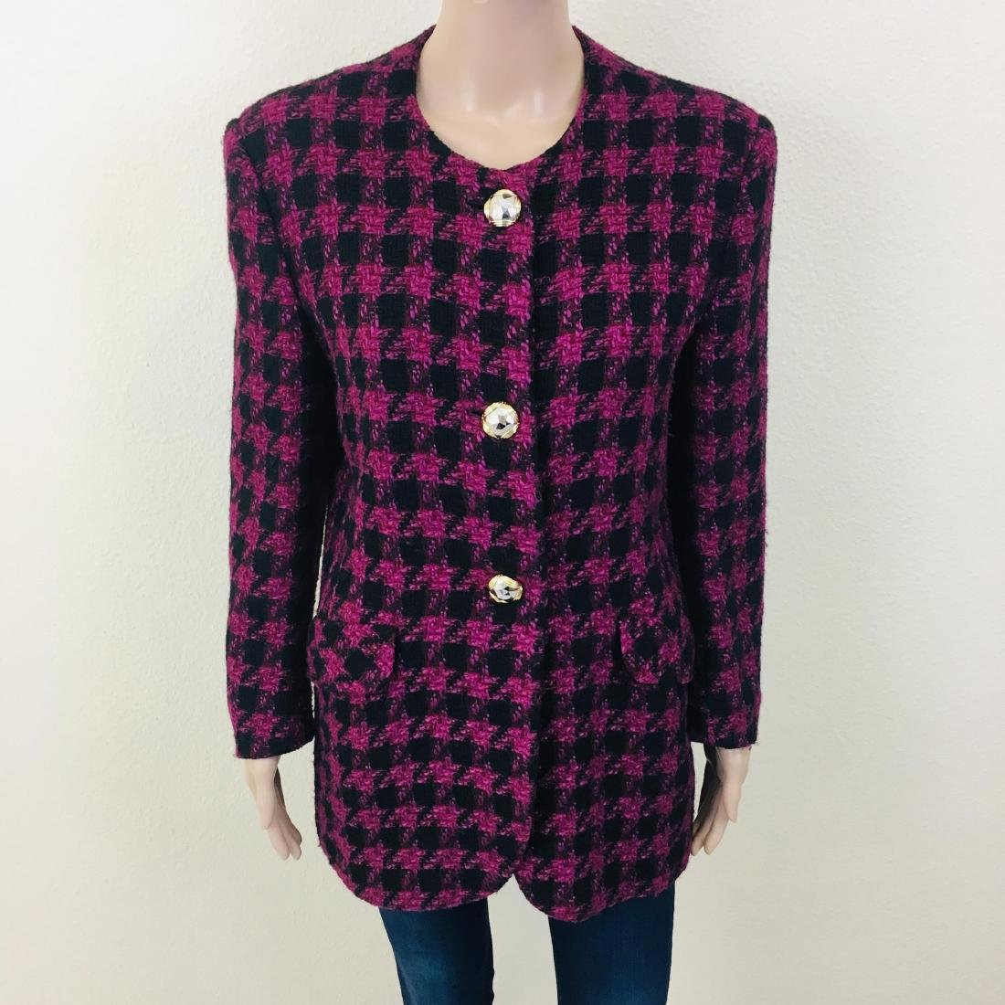 Vintage Women's Uknown Italian Designer Wool Blend - 4