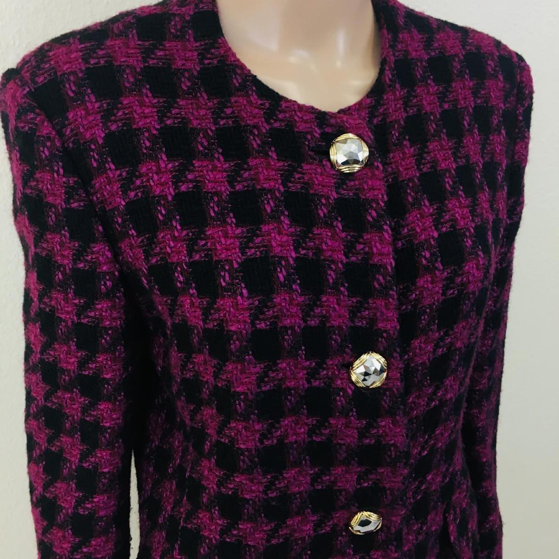 Vintage Women's Uknown Italian Designer Wool Blend - 5
