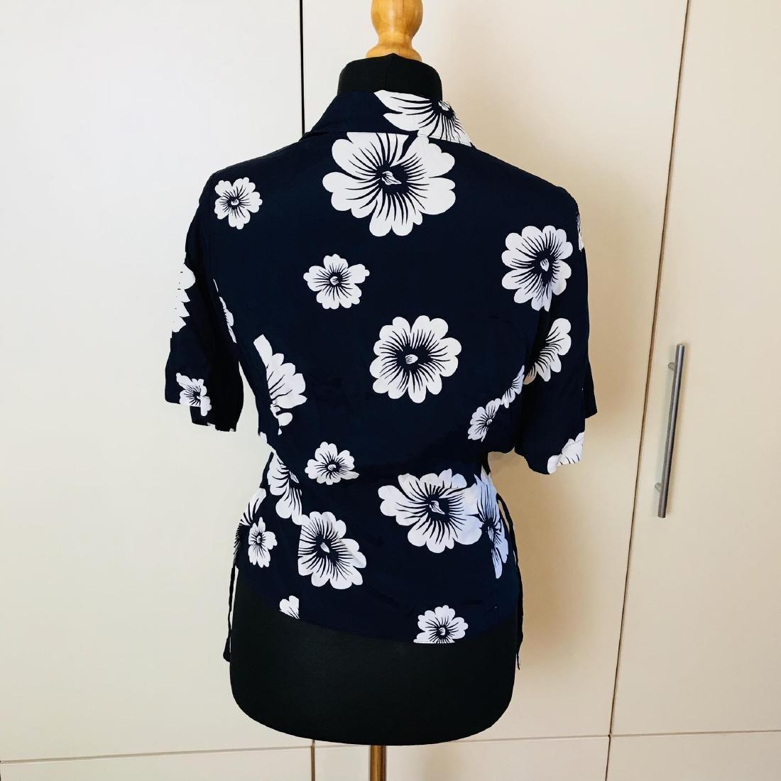 Vintage Women's Navy Blue Blouse Shirt Top - 4