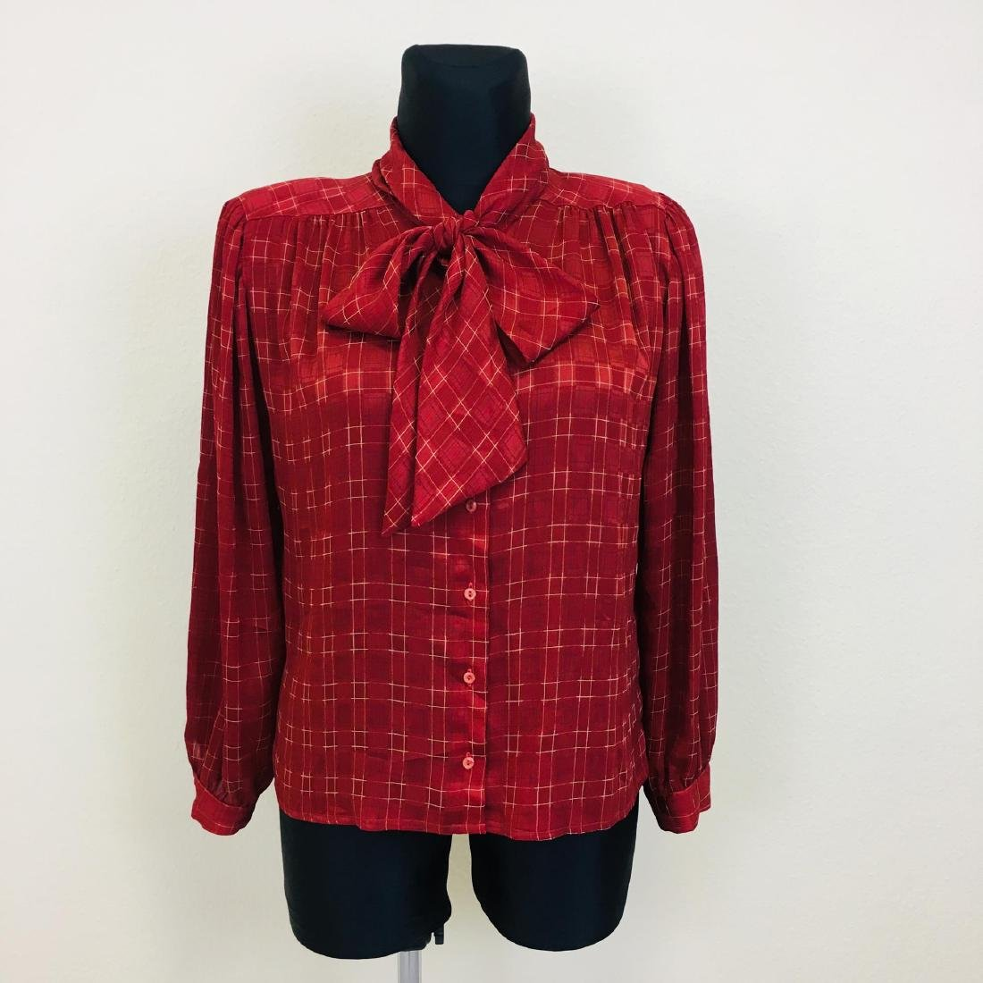 Vintage Women's Evening Coctail Top Blouse