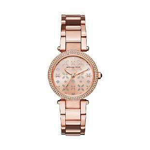 25c7a0ea905c MICHAEL KORS STAINLESS PAVE GLOBE LADIES WATCH