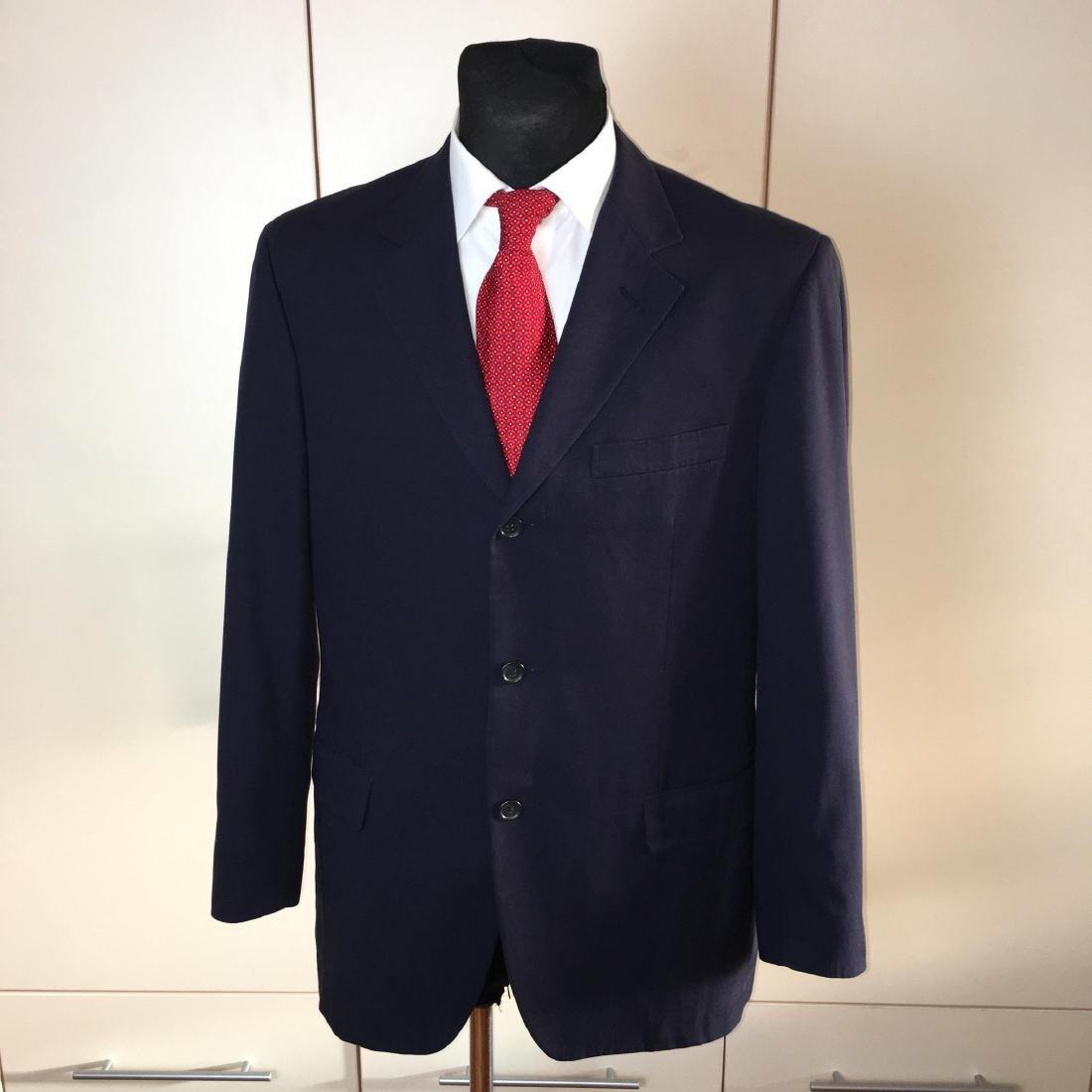 386a09b8a9 Men's Ermenegildo Zegna Navy Blue Blazer Jacket - May 22, 2019 ...