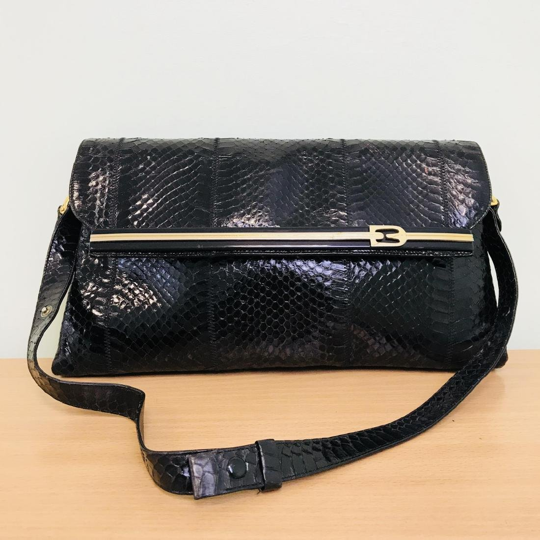 Vintage Handmade Snake Skin Shoulder Bag Made in Italy!