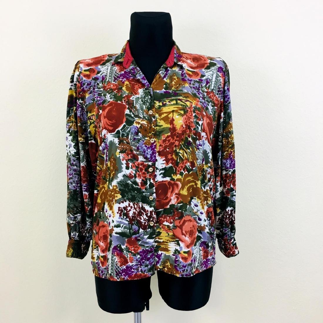 Vintage Women's Gallicia Designer Top Blouse Shirt