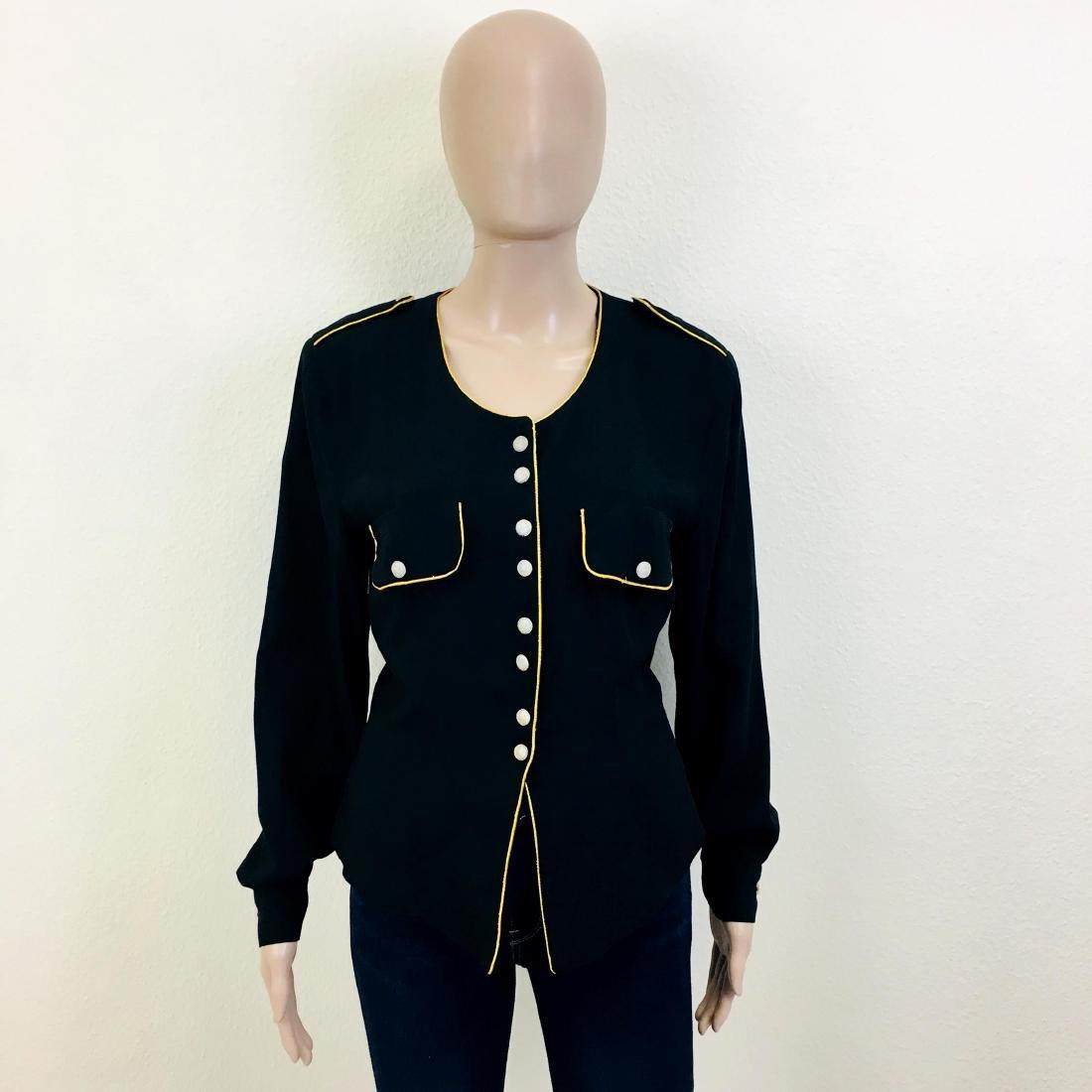 Vintage Women's Jardin Designer Top Blouse Jacket