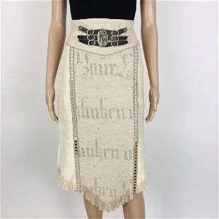Womens 100 Linen Austrian Tyrolean Skirt