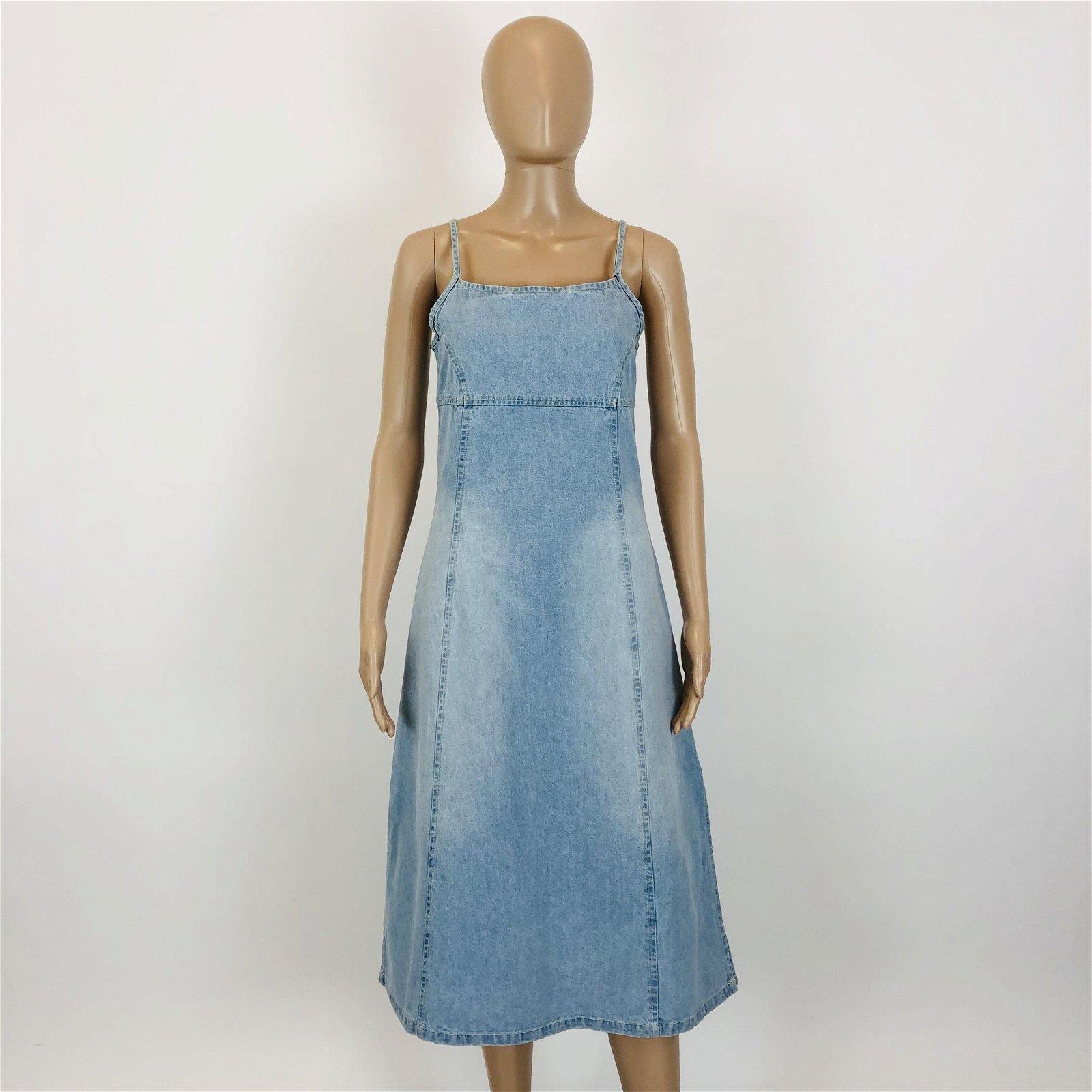 Vintage Women's T-K-F Denim Dress EUR 40 US 10