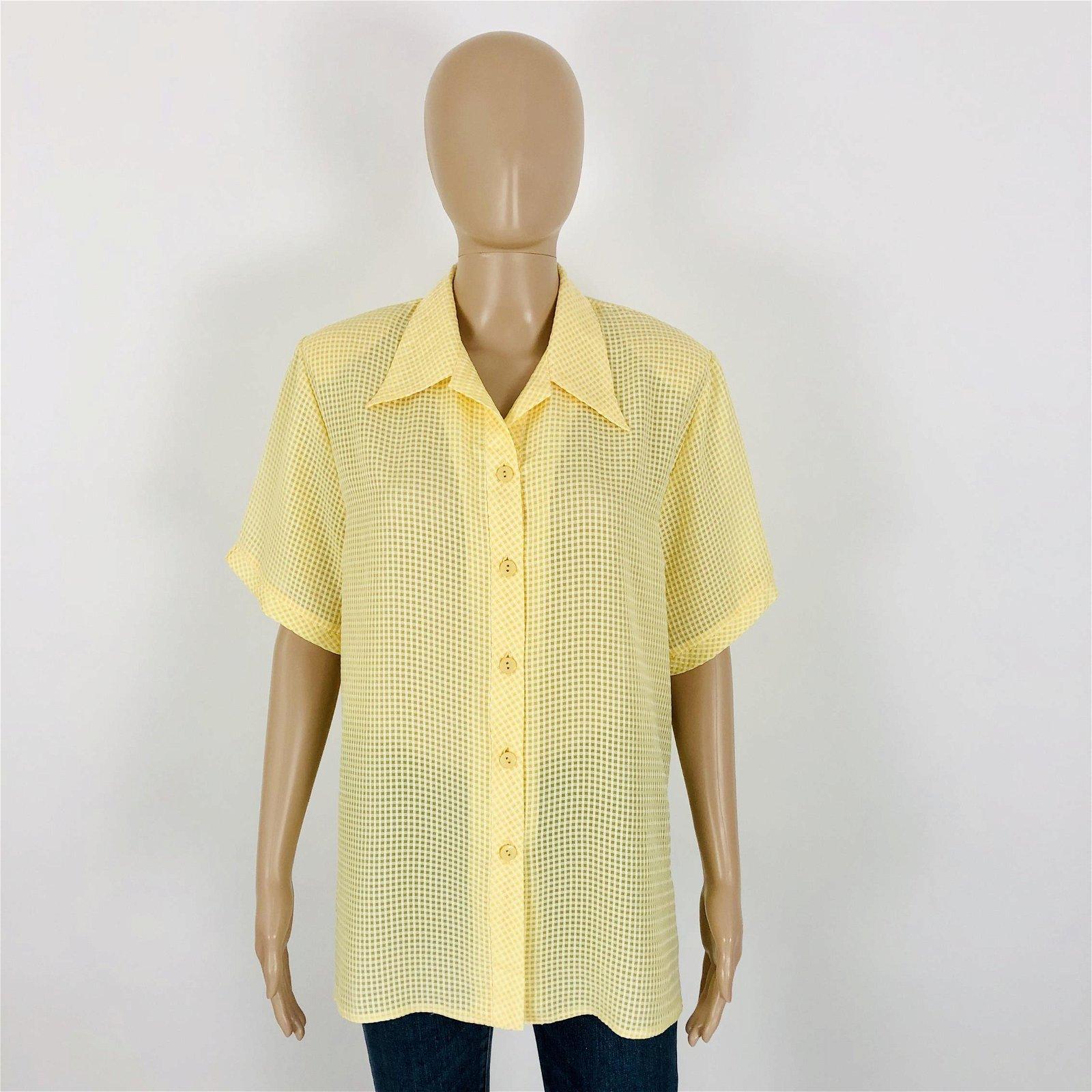 Vintage Women's Summer Shirt Top Blouse Size M