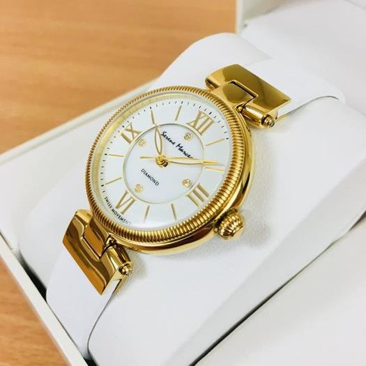 Serene Marceau Diamond Ladies Gold Plated Watch