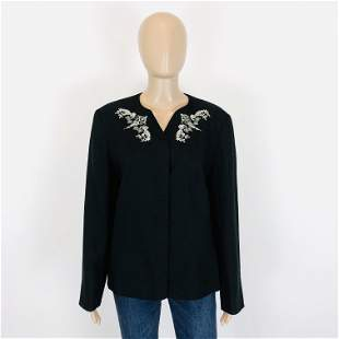 Vintage Women's Black Jacket Blazer Size US 12