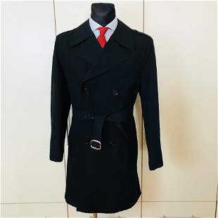 Vintage Men's Black Trench Coat Size US 40 / EUR 50