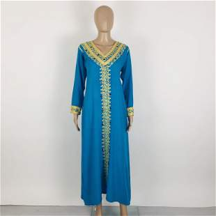 Vintage Women's Handmade Kaftan Dress Size M