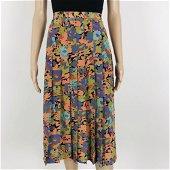 Vintage Women's Handmade Pleated Skirt Size M
