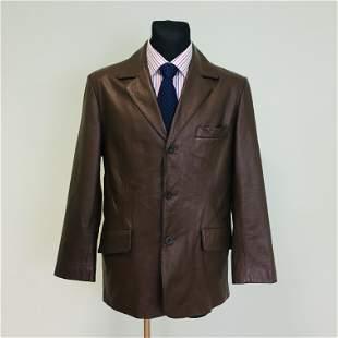 Vintage Men's BATISTINI Leather Jacket
