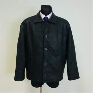 Vintage Men's Black Leather Jacket
