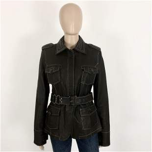 Women's Repeat Real Leather Jacket M