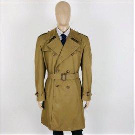 Men's Cotton Blend Trench Coat Size US 42