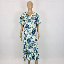 Vintage Women's French Flower Dress US 12