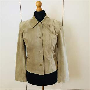 Women's Suede Leather Jacket Size S