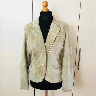 Women's Suede Leather Jacket Size US 6 EUR 36