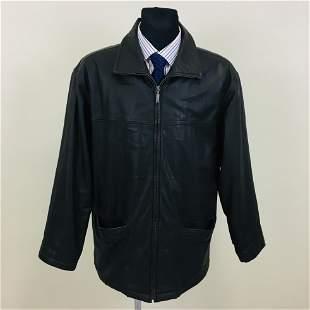 Vintage Men's R&G Leather Jacket Coat