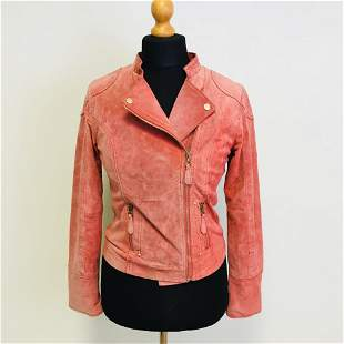 Women's Rino & Pelle Pink Suede Leather Jacket