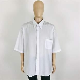 Vintage Men's White Short Sleeve Shirt Size XXL