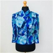 Vintage Women's Summer 100% Silk Blouse Shirt