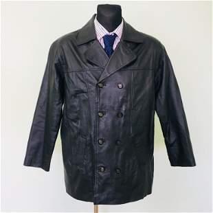Vintage Men's Leather Jacket Size EUR 48 US 38